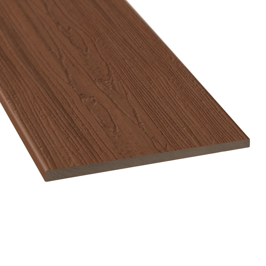 Style Selections (Actual: 0.5-in x 11.25-in x 12-ft) Sienna Red Radius Edge Composite Deck Board
