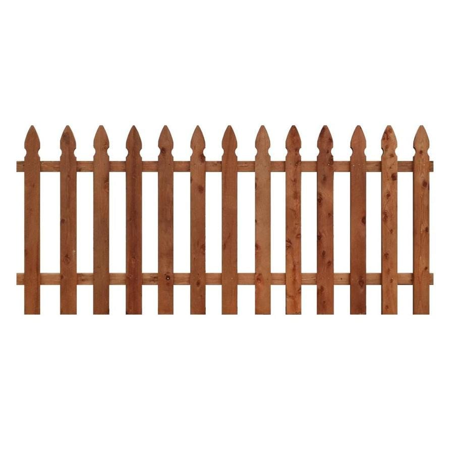 (Actual: 3.5-ft x 8-ft) Natural Pressure Treated  Incense Cedar Fence Panel