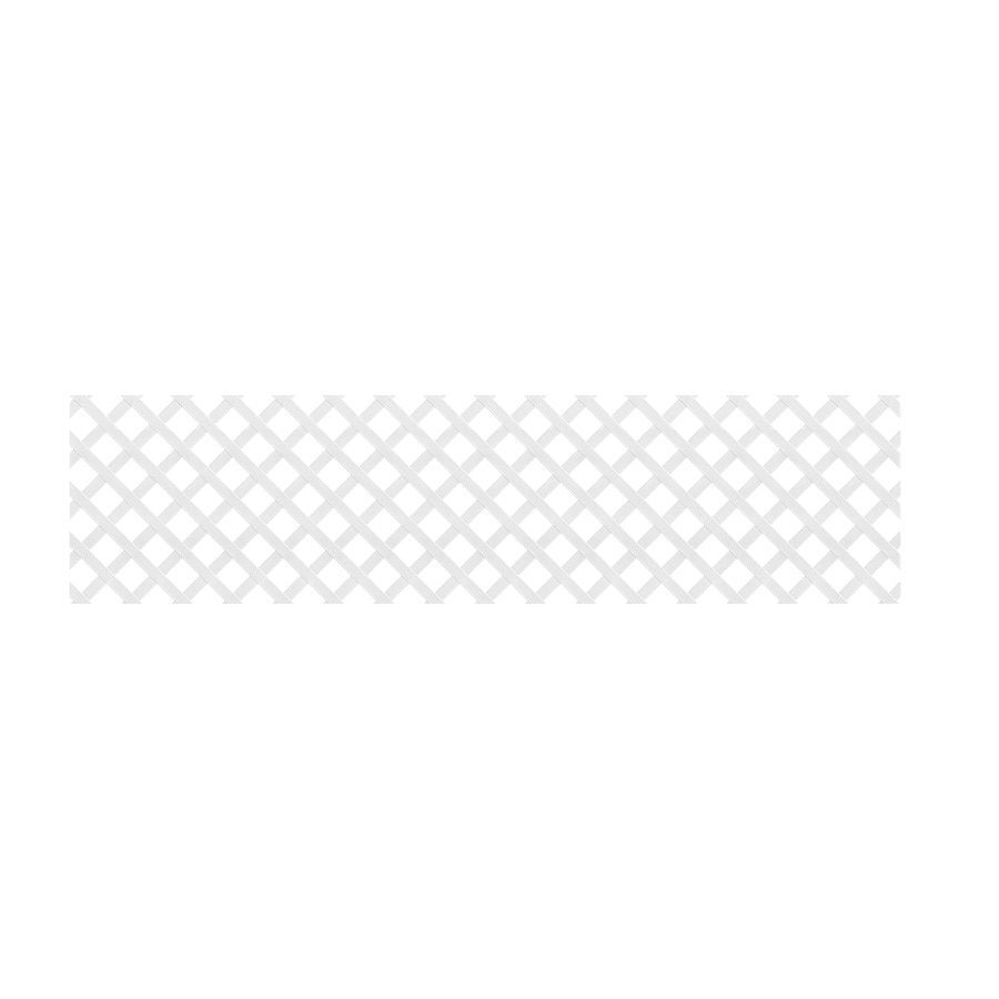 Dimensions (Common: 24-in x 8-ft; Actual: 0.125-in x 23.5-in x 7.91-ft) White Vinyl Traditional Lattice