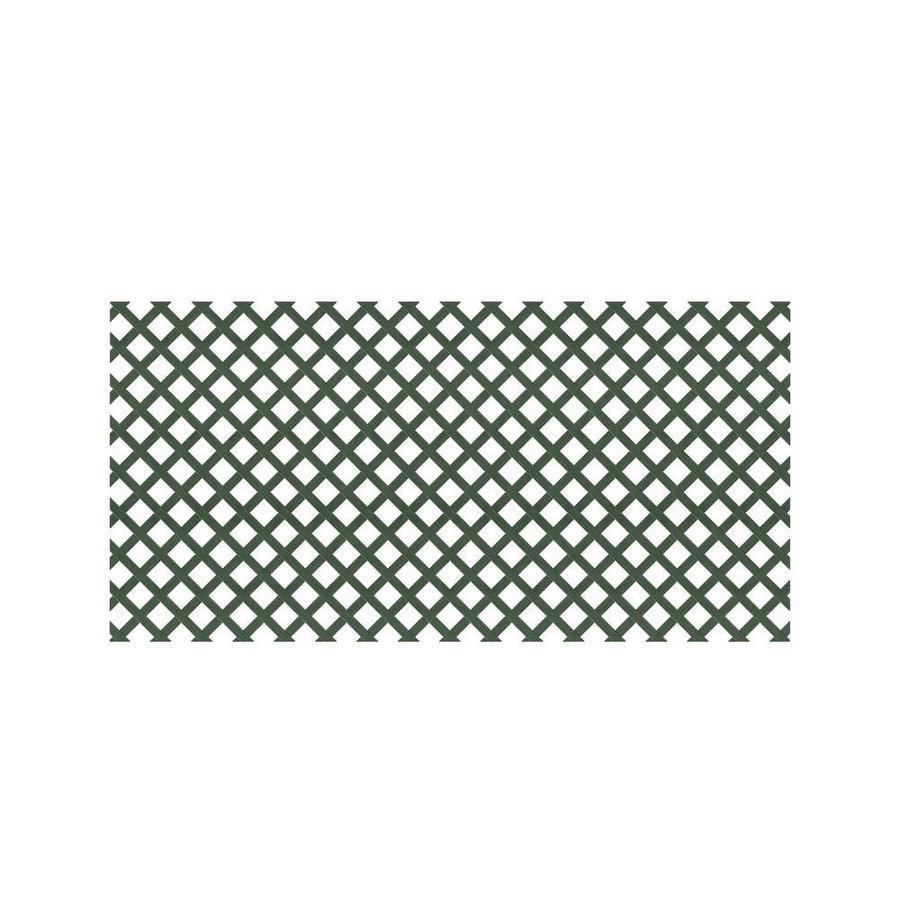 Dark Green Vinyl Traditional Lattice (Common: 48-in x 8-ft; Actual: 0.125-in x 47.5-in x 7.91-ft)