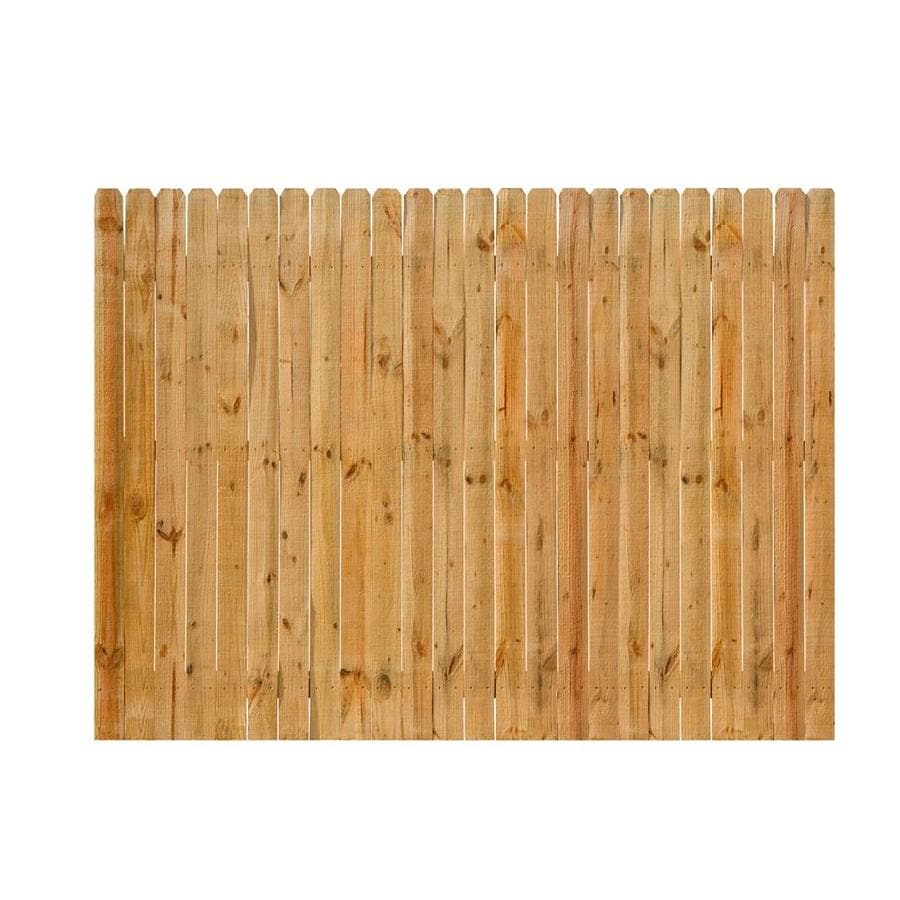 Severe Weather (Common: 6-ft x 8-ft; Actual: 6-ft x 8-ft) Natural Cedar Privacy Fence Panel