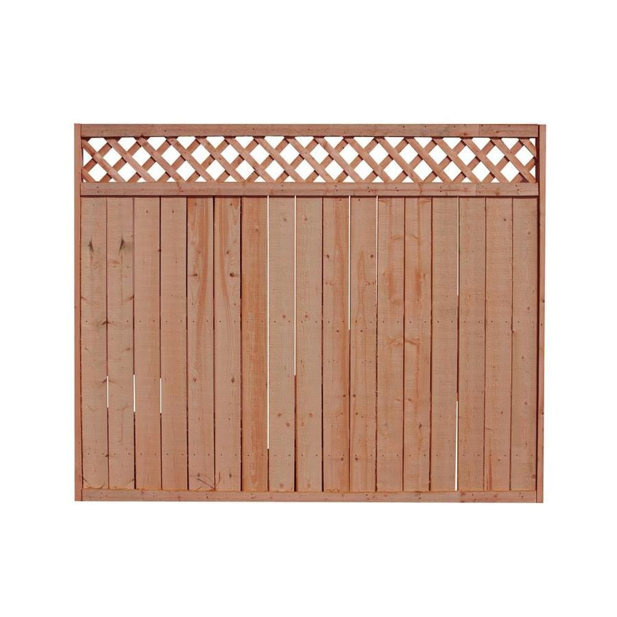 Severe Weather (Common: 6-ft x 8-ft; Actual: 6-ft x 8-ft) Pressure Treated Spruce Privacy Fence Panel