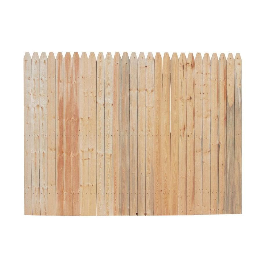 Severe Weather Natural Spruce Privacy Fence Panel (Common: 6-ft x 8-ft; Actual: 6-ft x 8-ft)