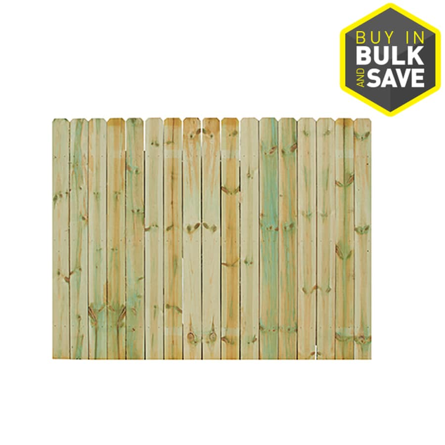 Severe Weather (Common: 6-ft x 8-ft; Actual: 6-ft x 8-ft) Natural Pressure Treated Spruce Privacy Fence Panel
