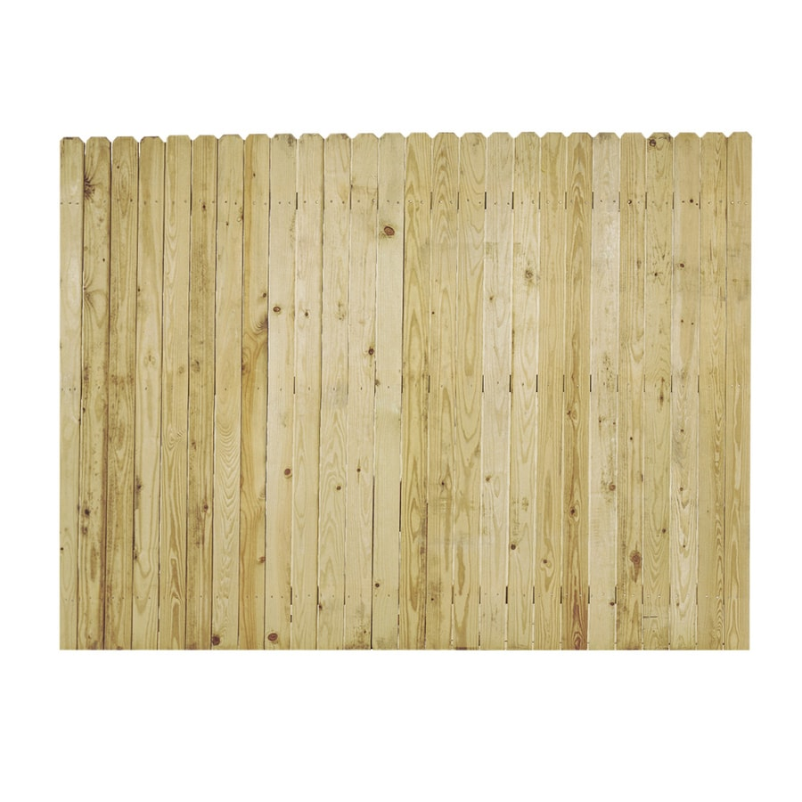 Severe Weather (Actual: 6-ft x 8-ft) Natural Pressure Treated Spruce Privacy Fence Panel