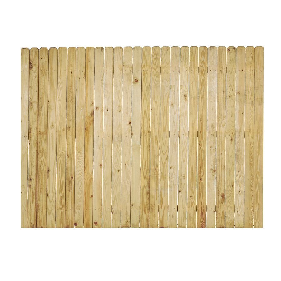 Severe Weather (Common: 6-ft x 8-ft; Actual: 6-ft x 8-ft) Natural Pressure Treated Pine Privacy Fence Panel