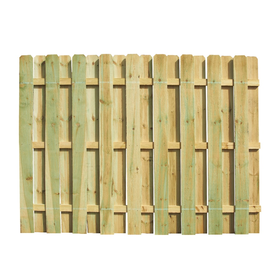 Severe Weather (Actual: 6-ft x 8-ft) Pressure Treated Pine Privacy Fence Panel