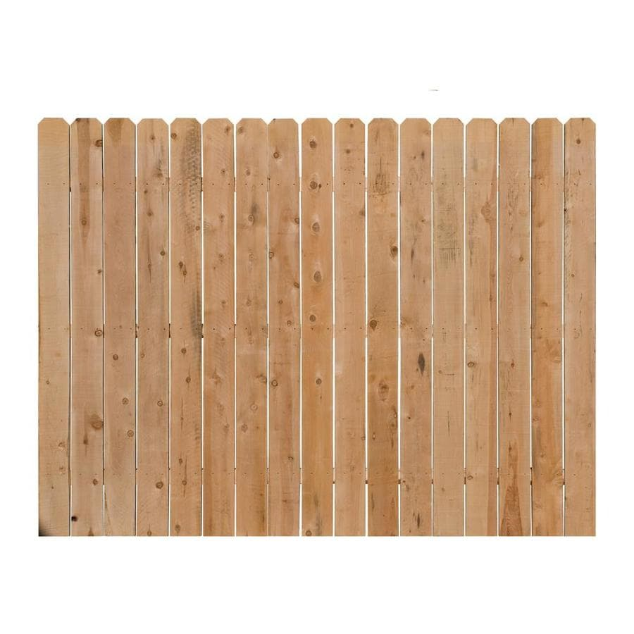 Severe Weather (Actual: 6-ft x 8-ft) Incense Cedar Privacy Fence Panel