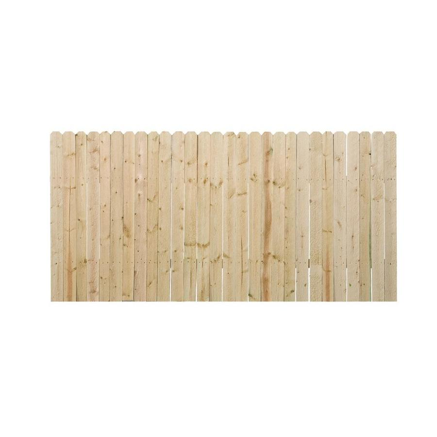 Severe Weather (Common: 4-ft x 8-ft; Actual: 3.5-ft x 8-ft) Natural Pressure Treated Pine Privacy Fence Panel
