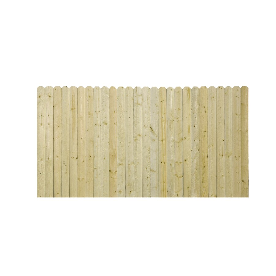 Severe Weather (Common: 3.5-ft x 8-ft; Actual: 3.5-ft x 8-ft) Natural Pressure Treated Spruce Privacy Fence Panel