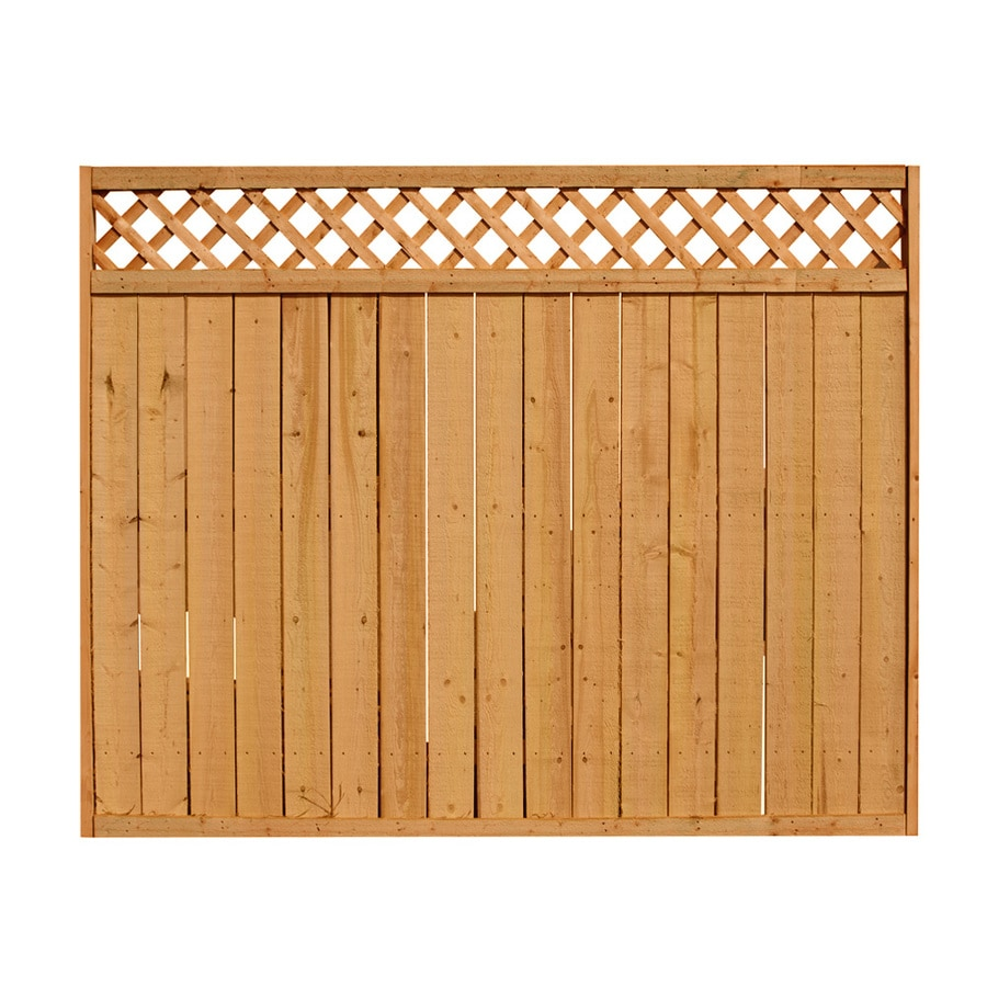(Common: 6-ft x 8-ft; Actual: 6-ft x 8-ft) Natural Pressure Treated Spruce Privacy Fence Panel