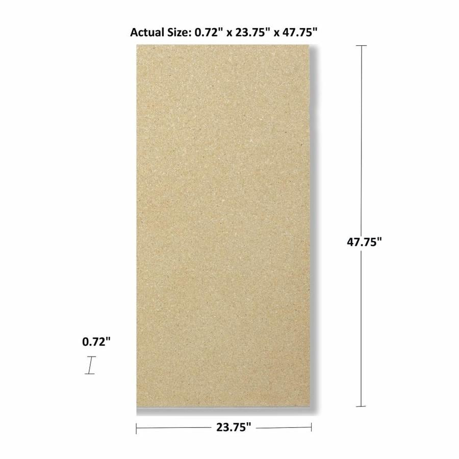 Shop actual x 4 ft x 2 ft industrial particle for Particle board laminate finish