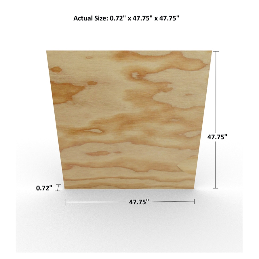 3/4-in Common Fir Sanded Plywood, Application as 4 x 4