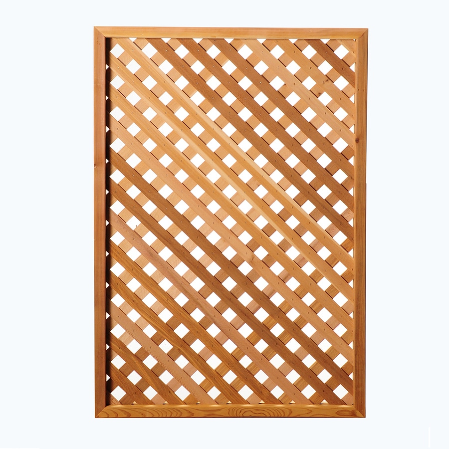 (Common: 1/2-in x Actual: 0.5-in x 50-in x 2.83-ft) Western Red Cedar Privacy Lattice