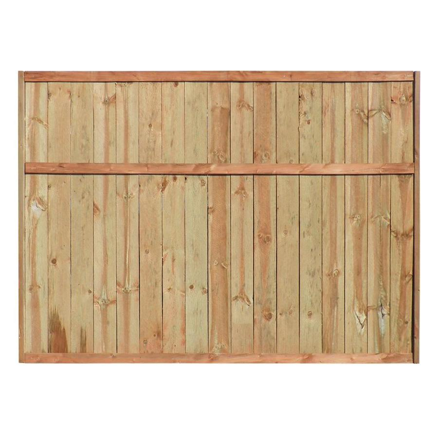 (Common: 6-ft x 8-ft; Actual: 6-ft x 8-ft) Color Treated Stain Pressure Treated Pine Privacy Fence Panel
