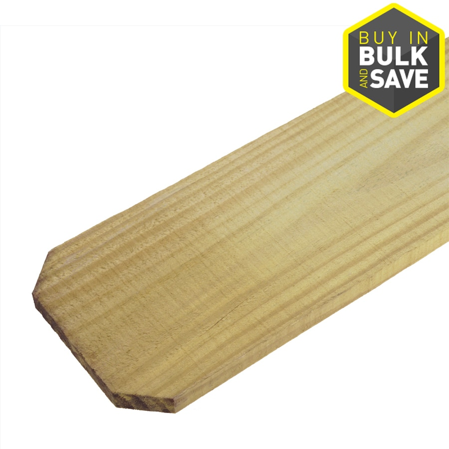 Severe Weather (Common: 11/16-in x 3-1/2-in x 4-ft; Actual: 0.6875-in x 3.5-in x 4-ft) Natural Pressure Treated Southern Yellow Pine Fence Picket