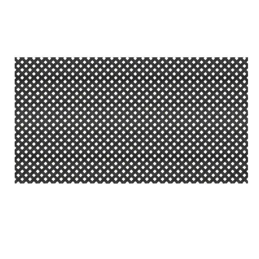Black Vinyl Privacy Lattice (Common: 48-in x 8-ft; Actual: 0.125-in x 47.5-in x 7.87-ft)
