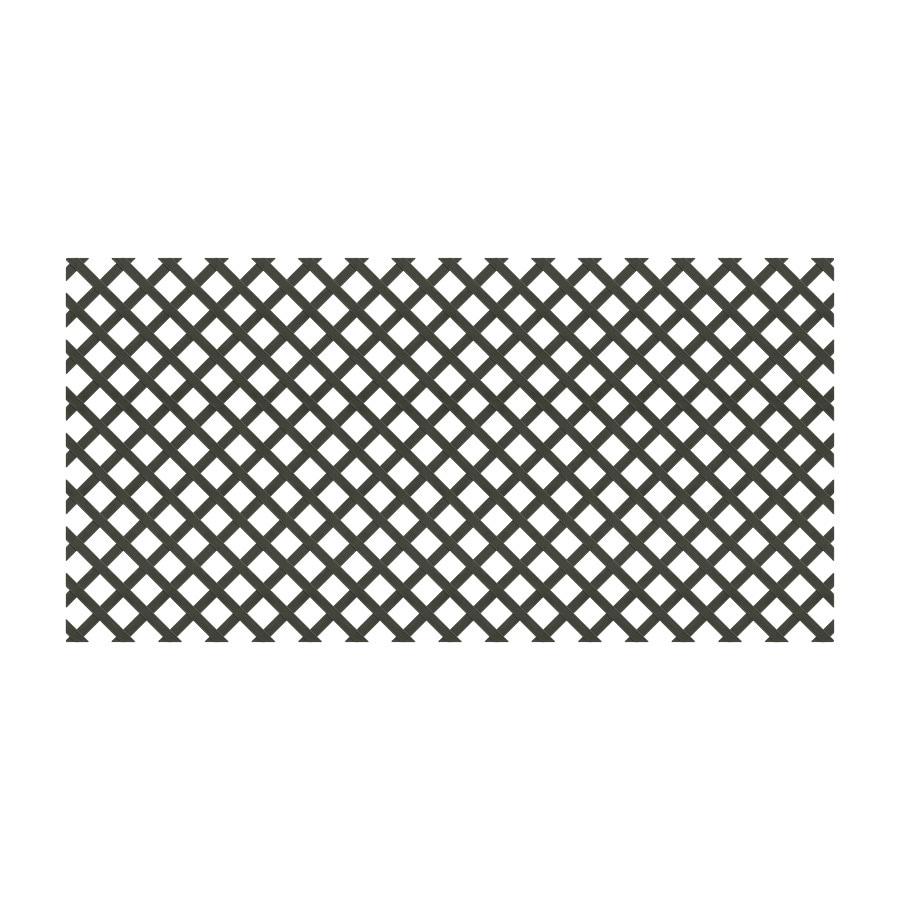 Dimensions (Common: 48-in x 8-ft; Actual: 0.125-in x 47.5-in x 7.91-ft) Black Plastic Traditional Lattice