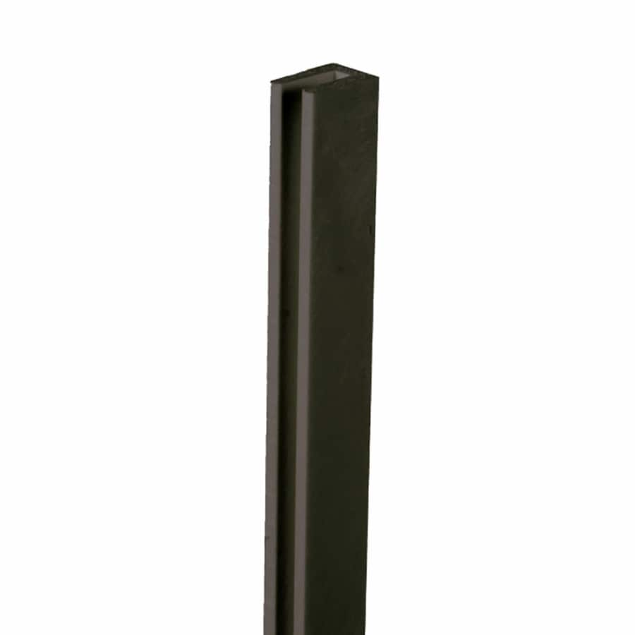 (Common: x 1-in x 8-Ft; Actual: 1-in x 0.625-in x 8.03-ft) Black Plastic (Not Wood)