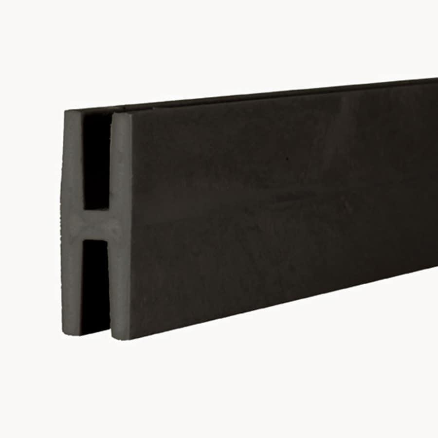 (Common: x 1-in x 8-Ft; Actual: 1.875-in x 0.625-in x 8.03-ft) Black Plastic (Not Wood)