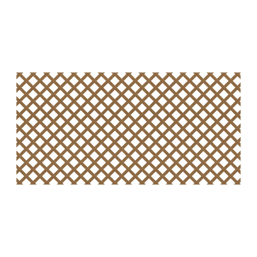 Cedar/Redwood Vinyl Traditional Lattice (Common: 48-in x 8-ft; Actual: 0.125-in x 47.5-in x 7.91-ft)