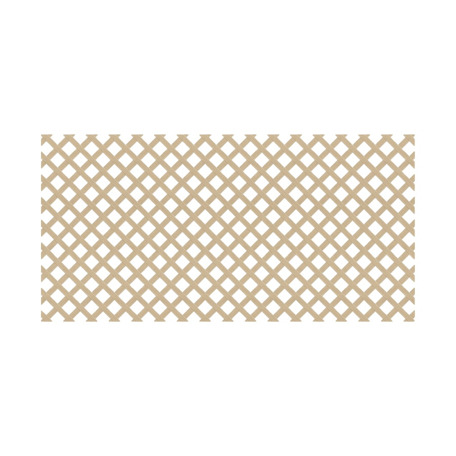 Dimensions (Common: 48-in x 8-ft; Actual: 0.125-in x 47.5-in x 7.91-ft) Brownstone Vinyl Traditional Lattice