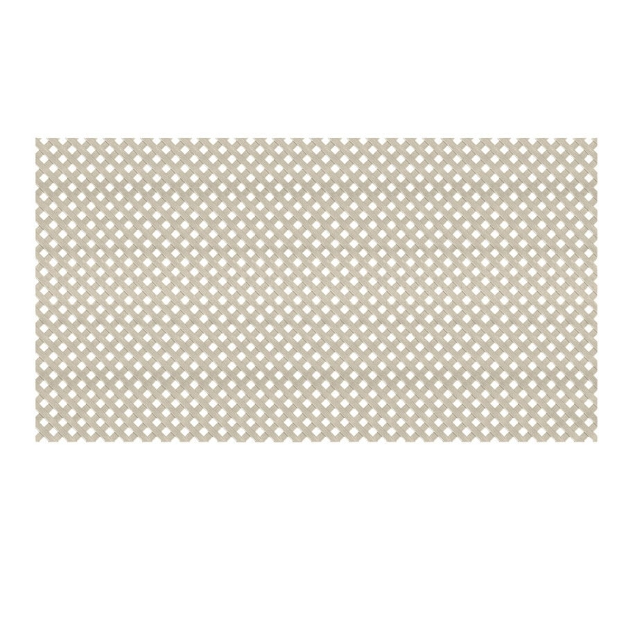 Dimensions (Common: 48-in x 8-ft; Actual: 0.125-in x 47.5-in x 7.87-ft) Clay Vinyl Privacy Lattice