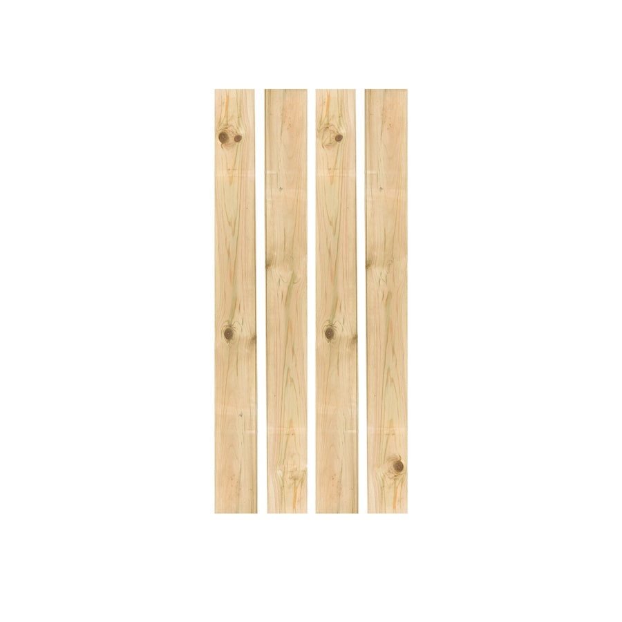 Severe Weather (Common: 1-in x 10-in x 5-ft; Actual: 1.25-in x 10.75-in x 5-ft) Natural Pressure Treated Pine Fence Picket