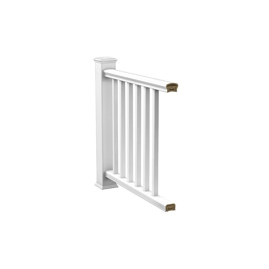 Deckorators (AssembLED: 8-ft x 2.75-ft) White Composite Deck Railing Kit