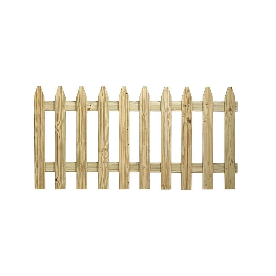 Severe Weather (Common: 4-ft x 6-ft; Actual: 3.489-ft x 5.989-ft) Natural Pressure Treated Spruce Semi-privacy Fence Panel