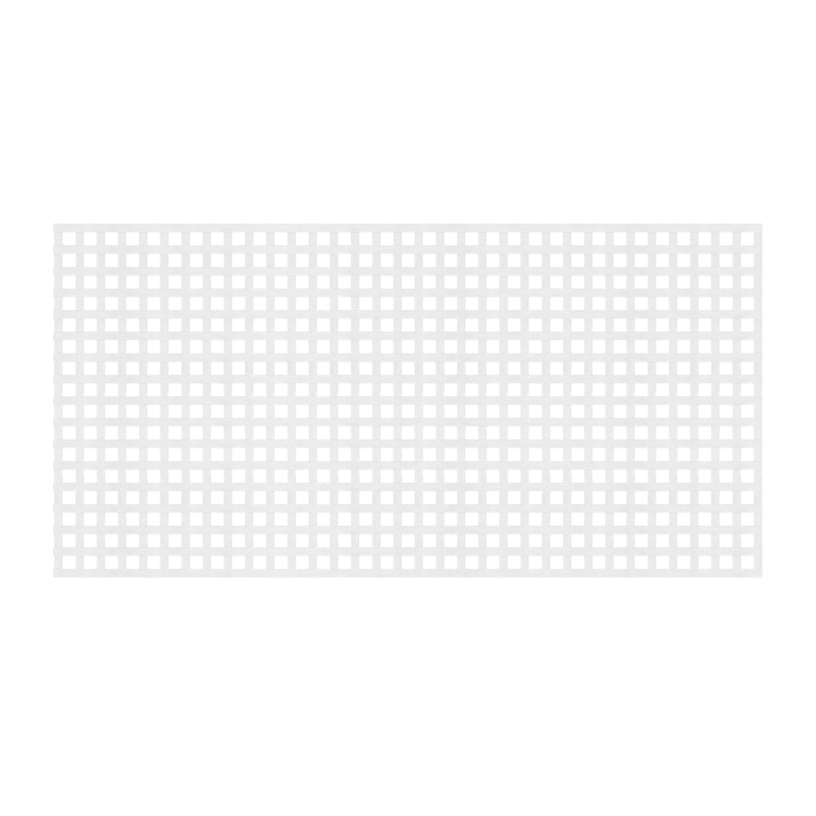 Dimensions (Common: x 48-in x 8-Ft; Actual: 0.125-in x 47.5-in x 7.87-ft) White Plastic (Not Wood) Privacy