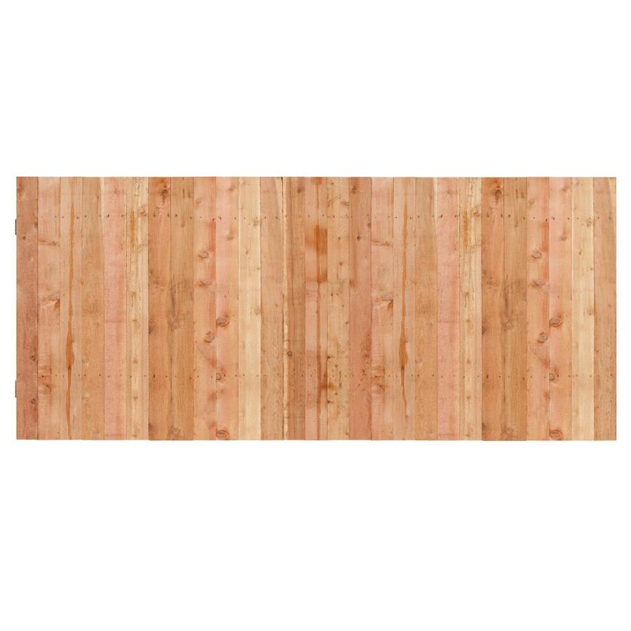 (Common: 3.5-ft x 8-ft; Actual: 3.5-ft x 8-ft) Natural Western Red Cedar Privacy Fence Panel