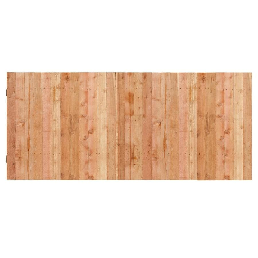 Natural Western Red Cedar Privacy Fence Panel (Common: 3.5-ft x 8-ft; Actual: 3.5-ft x 8-ft)