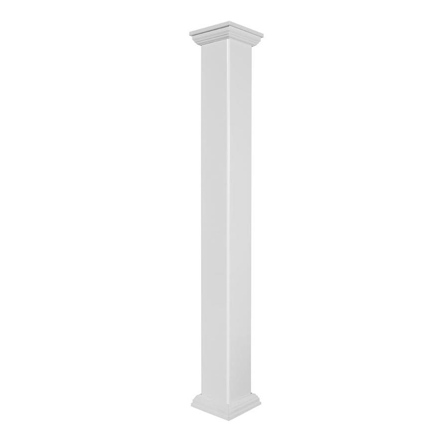 Deckorators (Fits Common Post Measurement: 4-in X 4-in; Actual: 4-in x 4-in x 54-in) White Composite Deck Post Sleeve