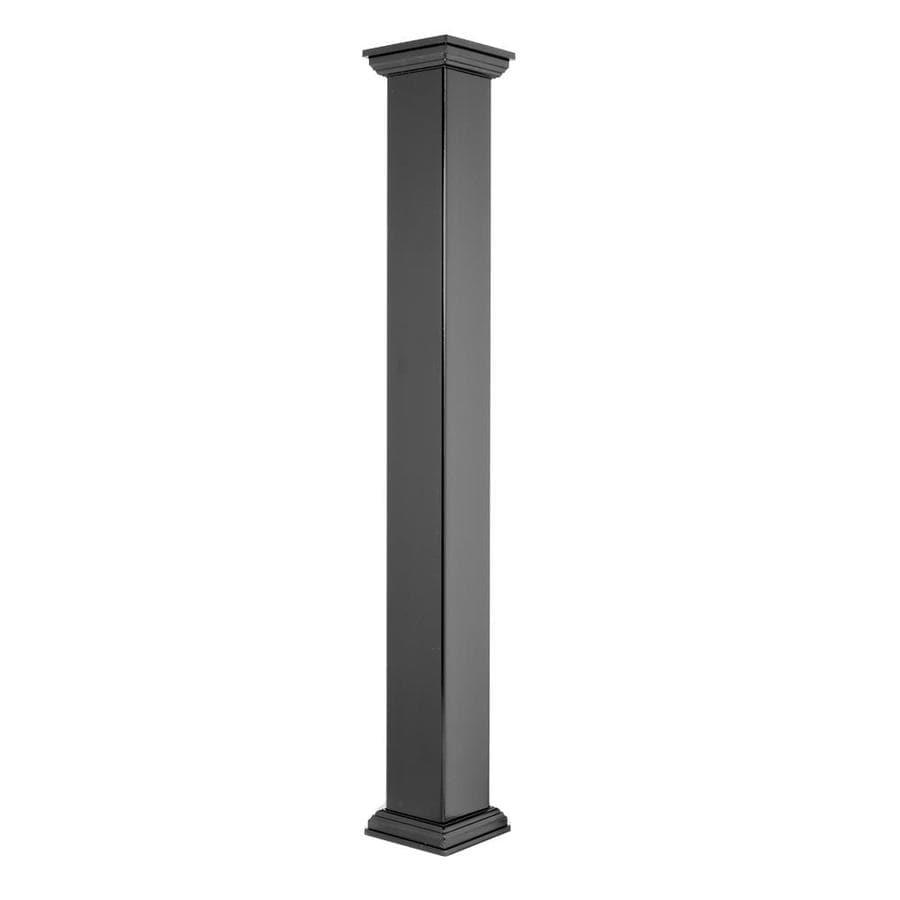 Deckorators (Fits Common Post Measurement: 4-in X 4-in; Actual: 4-in x 4-in x 54-in) Black Composite Deck Post Sleeve