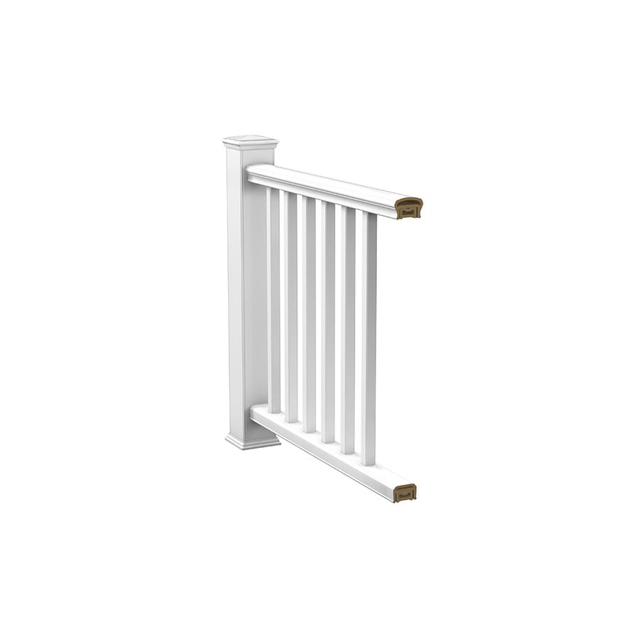 Deckorators (Assembled: 6-ft x 3.25-ft) White Composite  Deck Railing Kit