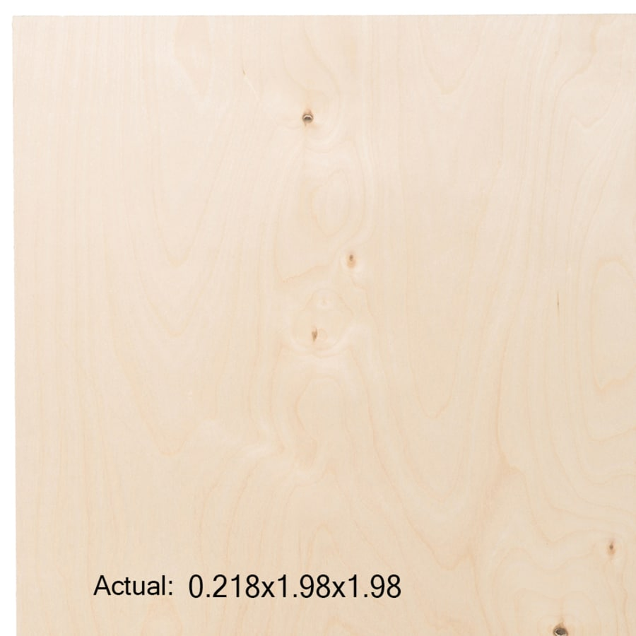 1/4-in Birch Plywood, Application as 2 x 2