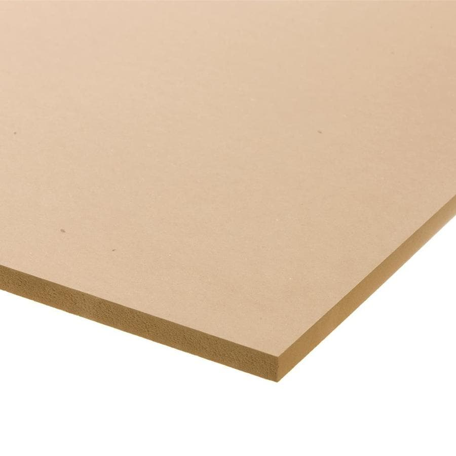 (Actual: 0.5-in x 24-in x 2-ft) Medium-Density MDF