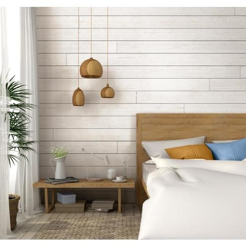 Ufp Edge Rustic 9 25 Sq Ft White Barnwood Wood Shiplap Wall Plank Kit In The Wall Plank Kits Department At Lowes Com