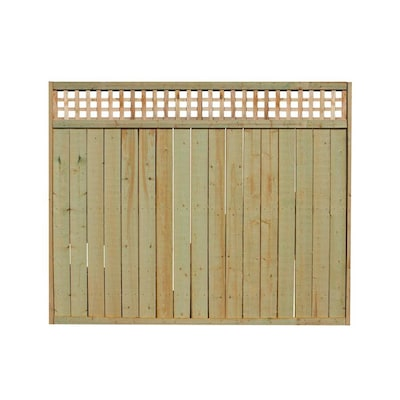 Actual 6 Ft X 8 Ft Pressure Treated Lattice Top Wood Fence