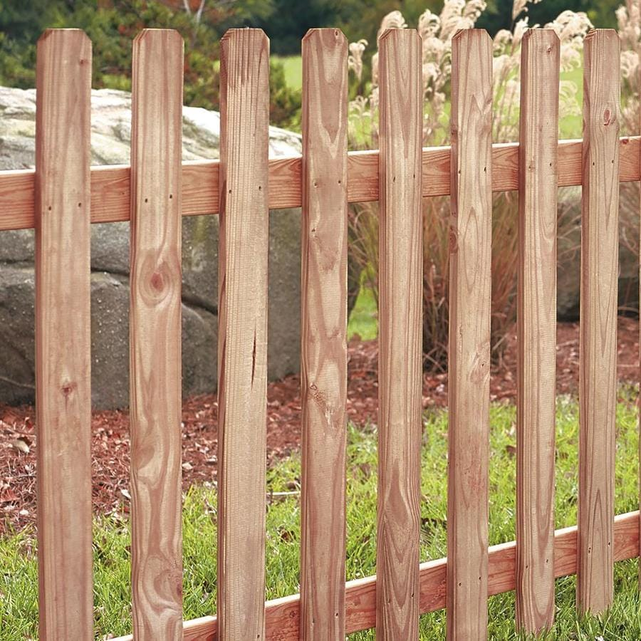 Severe Weather (Actual: 4-ft x 8-ft) Western Red Cedar Semi-privacy Fence Panel