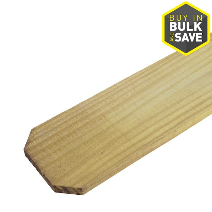 1 In X 4 In W X 6 Ft H Pressure Treated Pine Dog Ear Fence Picket In The Wood Fence Pickets Department At Lowes Com