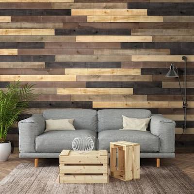 Strange Distressed 10 3 Sq Ft Accent Wood Wall Plank Kit Uwap Interior Chair Design Uwaporg