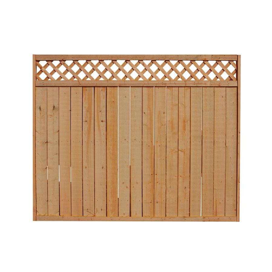 (Actual: 5.708-ft x 8-ft) Western Red Cedar Privacy Fence Panel