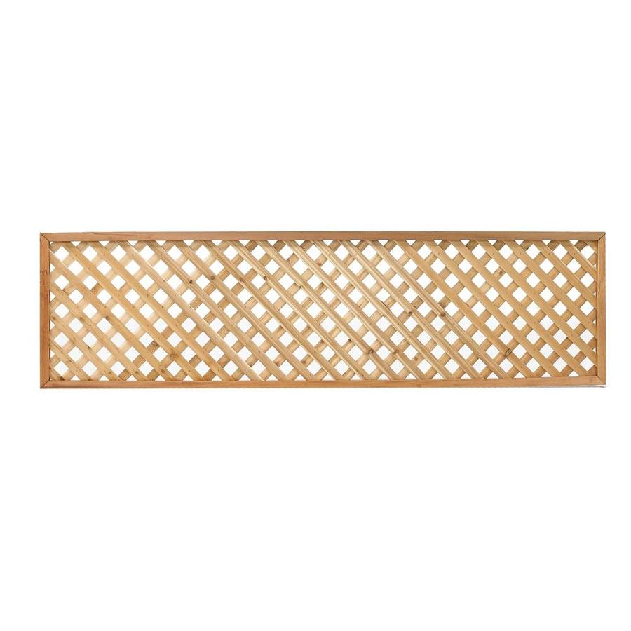 Severe Weather (Common: 7/16-in x 24-in x 8-ft; Actual: 0.4375-in x 24-in x 8-ft) Western Red Cedar Privacy Lattice
