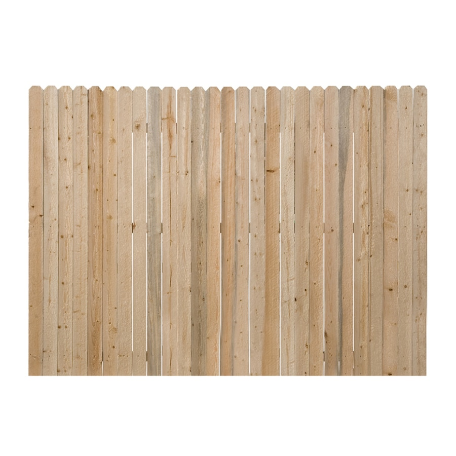 Severe Weather (Common: 6-ft x 8-ft; Actual: 6-ft x 8-ft) Natural Spruce Privacy Fence Panel