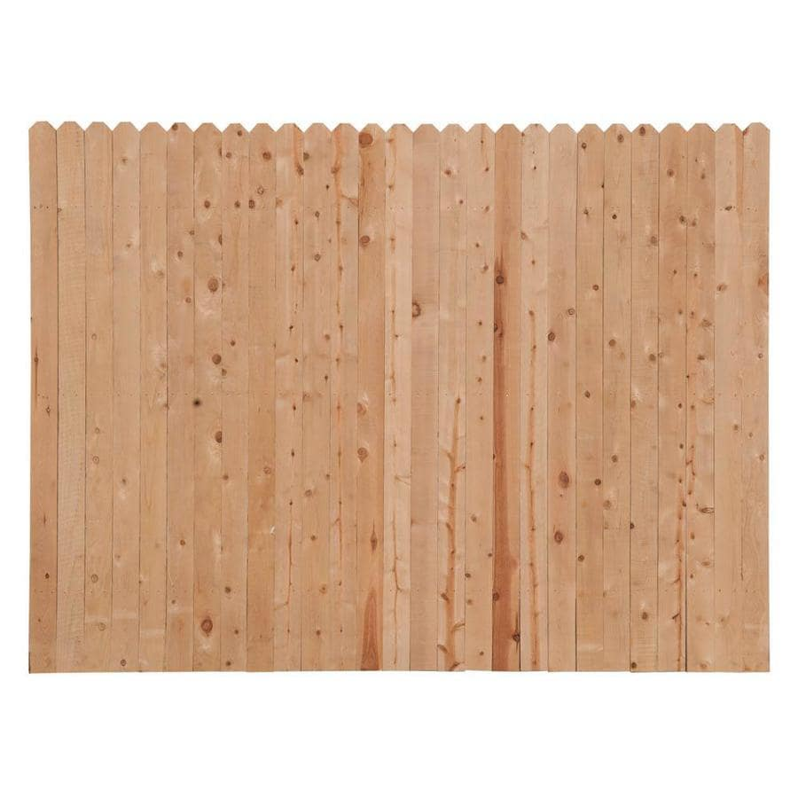 Severe Weather (Common: 6-ft x 8-ft; Actual: 6-ft x 8-ft) Natural Pine Privacy Fence Panel