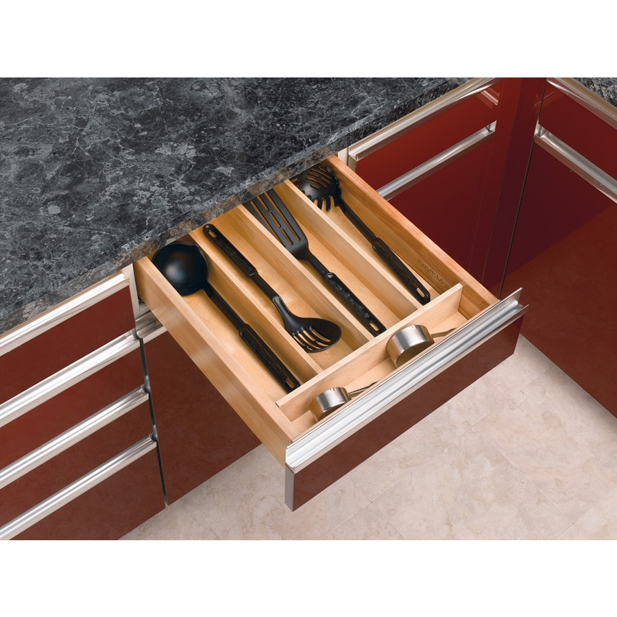 Rev-A-Shelf 22-in x 18.5-in Wood Multi-Use Insert Drawer Organizer
