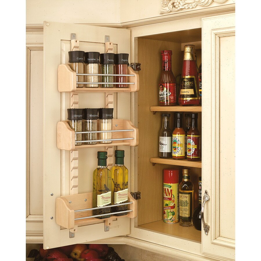 Rev A Shelf 10 125 In W X 25 In Tier Door Wall Mount Wood