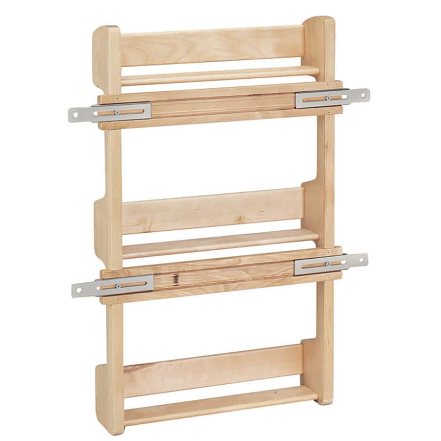 Shop rev a shelf wood in cabinet spice rack at for Kitchen cabinets storage